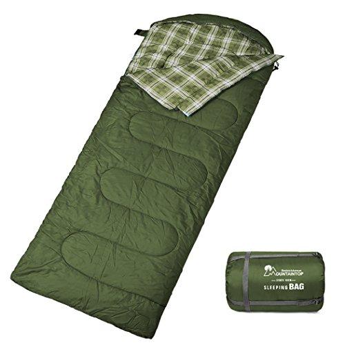 Mountaintop Schlafsack, Ultraleicht mit kleinstem Packmaß Reiseschlafsack Sommerschlafsack Leicht Deckenschlafsack