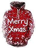 NEWISTAR Christmas Herren Hoodie 3D Druck Kapuzenpullover Grafik Langarm Sweatshirt Pullover Top Jumper Large
