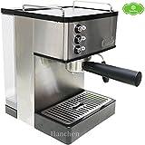 Haushalt Pumpe Druck Semi Automatik Edelstahl Espresso Maschine Milchaufschäumer Milk Dampfgarer Coffee Milchdüse Maschine Steam Milk Bubble Maschine gs-690(schwarz 220V)