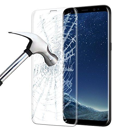 Samsung Galaxy S8 Panzerglas, ikalula 3D Full Coverage Galaxy S8 Schutzfolie Anti-Kratzer Anti-Luftblasen Displayschutz für Samsung Galaxy S8 - Transparent (1 Stück) Test