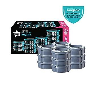 Tommee Tippee Sangenic Recambios Sistema avanzado para desechar pañales Twist & Click, paquete de 12 (compatibles con los contenedores Sangenic TEC y Twist and Click) (B07KBF9J7Y) | Amazon Products