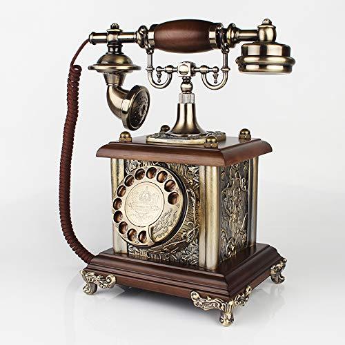 Massivholz-podest (Telefon Retro Telefon Telefon Schnurgebundenantiken Telefon-Sockel-Maschine Europäischen Telefon Retro-Telefon-Podest-Maschine Massivholz Haushalt Wohnzimmer Telefon-Pode)