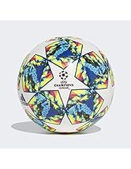Adidas Finale 19 CPT, Pallone da Calcio Uomo, Top:White/Bright Cyan Yellow/Shock Pink Bottom:Collegiate Royal/Black/Solar Orange, 4