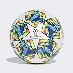 Idea Regalo - Adidas Finale 19 CPT, Pallone da Calcio Uomo, Top:White/Bright Cyan Yellow/Shock Pink Bottom:Collegiate Royal/Black/Solar Orange, 5