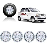 #10: Autorepute Premium Quality Car Full Caps Silver 13Inches Wheel Cover For - Hyundai Santro Xing