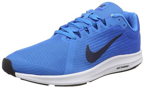 NIKE Damen Downshifter 8 Laufschuhe, Blau Glow/Midnight Navy-Light Photo Blue 403, 40.5 EU