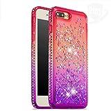 iPhone 7 Plus/ 8 Plus Étui, Glitter Liquide Cristal Diamant Étoiles Paillettes...