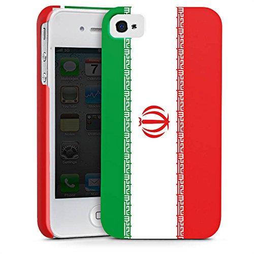Apple iPhone X Silikon Hülle Case Schutzhülle Iran Flagge Fußball Premium Case glänzend