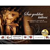 Adult Body Art Sex Goddess Tattoo Set