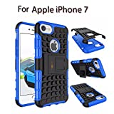 Heartly Flip Kick Stand Spider Hard Dual Rugged Shock Proof Tough Hybrid Armor Bumper Back Case Cover For Apple iPhone 7 – Power Blue