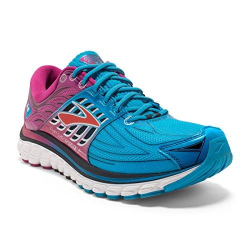 Brooks Glycerin 14, Chaussures de Running Compétition Femme DresdenBlue/FestivalFuchsia/Black