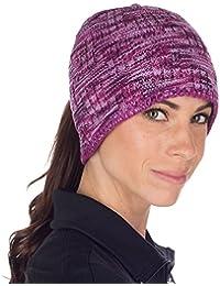 TrailHeads Senda Alrededor de Las Mujeres Gorro de Punto coleta Espacio  Tinte Morado Light Purple e57fc6cb956