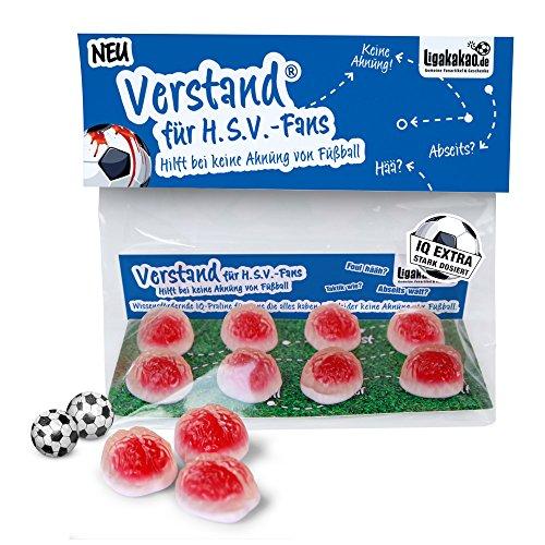 VERSTAND für Hamburg-Fans | Fruchtgummi-Pralinen, hochdosiert helfen bei keine Ahnung von Fußball | Für Werder, St. Pauli- & alle Fußball-Fans, denen der Verstand von HSV-Fans am Herzen liegt