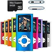 Mymahdi – Digital, Compact et Portable Lecteur MP3/MP4 (Max Support 64 Go Carte Micro SD) avec Photo Viewer, E-Book Reader et Radio FM Enregistreur Vocal et vidéo vidéo en Darkblue …