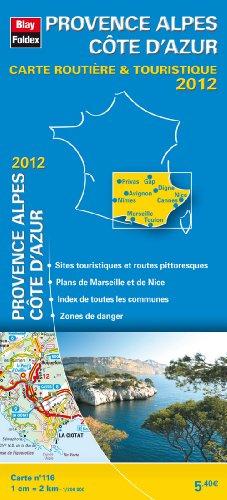 Provence Alpes Côte d'Azur, Carte Régionale Routière et Touristique N°116. Echelle : 1/200 000, avec index - Edition 2012