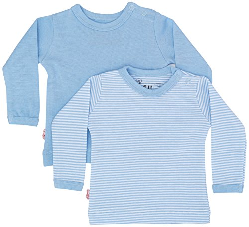 ISI Mini Unisex Baby Teddy Kollektion, 2er Pack Pullover, Mehrfarbig (Blau + Gestreift), One Size (Herstellergröße: 62/68) (2erPack -