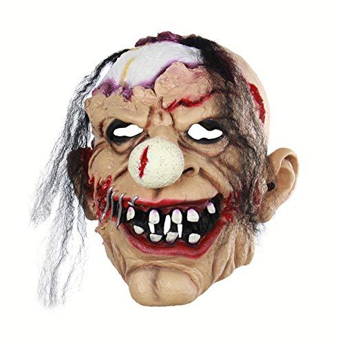 Kostüm Beängstigend Clown - Halloween Latex Maske Beängstigend Zombie Clown 3D Neuheit Gruselig Teufel Kostüm Partei Cosplay Requisiten Rollenspiel Spielzeug