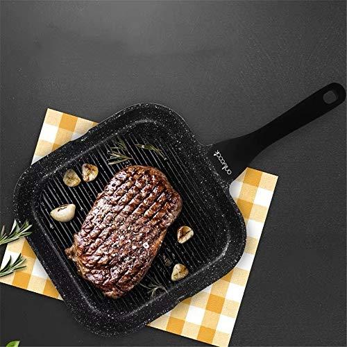 Frühstück Bratpfanne, Antihaft-Spiegelei Pfanne Gebratenes Steak Teller Strip Pan Induktionsherd, Multifunktions Steak Pot
