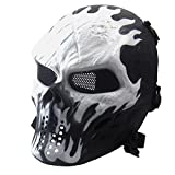 Tete Mort Masque Crâne Squelette Airsoft Plein Visage Cagoule Pour Paintball, QinMM...