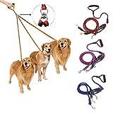 bureze 3Wege Dog Coupler Leine no-tangle Triple Pet Leine Blei Passform für Walking Drei S M L