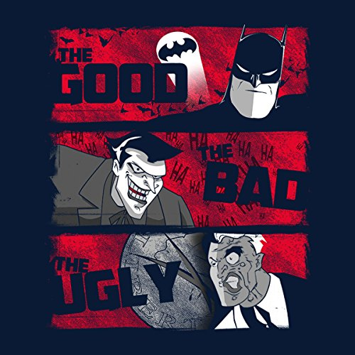 Gotham The Good The Bad And The Ugly Men's T-Shirt Navy Blue