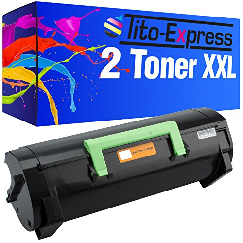 Tito-Express PlatinumSerie 2 Toner XXL kompatibel mit Lexmark MS-310 MS310D MS310DN MS312DN MS315DN MS410D MS410DN MS510DN MS610DE MS610DN MS610DTE MS610DTN | 50F2H00 Black je 5.000 Seiten -