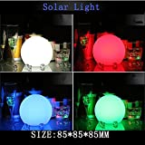 """CHUANGYI 7"""" Color Changing Solar LED Ball by Floatable Hangable Multi-Color Orb Lights Great Deco Balls for Pools, Backyard Decoration, Outdoor Living or as Mood Lights Floating (White light)"""
