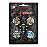 Iron Maiden badge pack 5 x Pin Button band logo Eddie Book of Souls offiziell