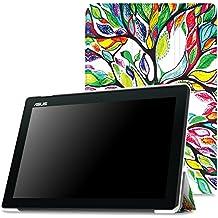 MoKo Asus ZenPad 10 Funda - Ultra Slim Lightweight Función de Soporte Protectora Plegable Smart Cover Durable para Asus ZenPad 10 Z300C / Z300M / Z300CNL / Z300CG / Z300CL 2015 Tableta, Lucky Tree