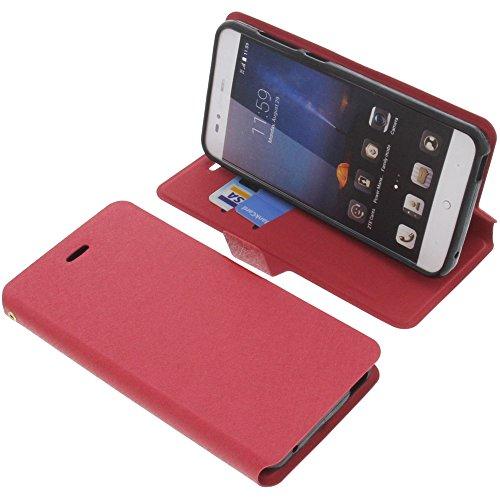 foto-kontor Tasche für ZTE Blade A612 Book Style rot Schutz Hülle Buch