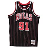 Mitchell & Ness Swingman Jersey Chicago Bulls Dennis Rodman 91 Black/Red M
