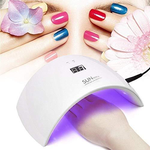 50W UV LED NAGEL TROCKNER SET, Nagellampe für Nagel Gel Polnisch Curing , Einfach zu tragen. Mit 30sec / 60sec / 90sec Automatik Sensor Touch Key(weiß Licht) (Stromversorgung Oberfläche 36w)