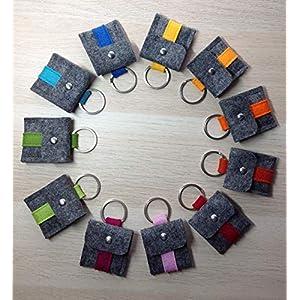 Einkaufswagen-Chip-Täschchen aus Wollfilz Einkaufschip Minitäschchen