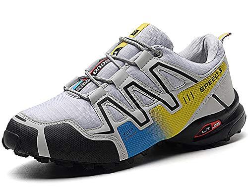 GNEDIAE Herren KR-4 Low-top Trailrunning-Schuhe,Luftkissenschuhe Weiß 44 EU