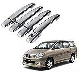 #9: Hi Art Chrome Car Door Handle Cover For Toyota Innova [2012-2013] - Set Of 4