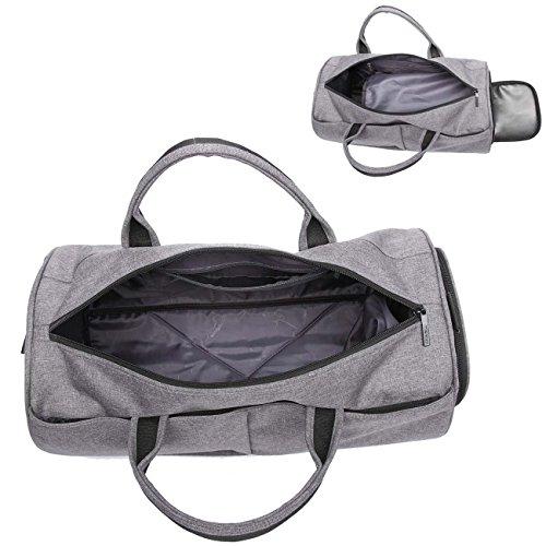 Neuleben Sporttasche mit Schuhfach für Sport Fitness Reise Wasserabweisend Reisetasche Unisex Schwarz