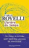L'ordre du temps par Rovelli