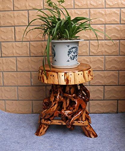 Stands extérieure Herb Plante Fleur Sculpture artisanale Fleur Stand Base Décoration de salon Naturel Bois massif Arbre Bonsai Cadre de fleurs Tabouret de base Utilisation intérieure et extérieure Style vintage ( taille : 40 cm )