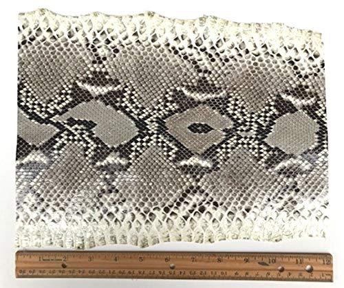 Schlangenhaut-Python in Schlangenhaut-Optik, 0,2 cm bis 25,4 cm breit, Schwarz/Weiß -