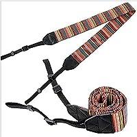Brain Freezer Strap Belt Compatible with Camera Panasonic Sony Canon   Shoulder Neck Stripe   Cotton Multicolor (209)