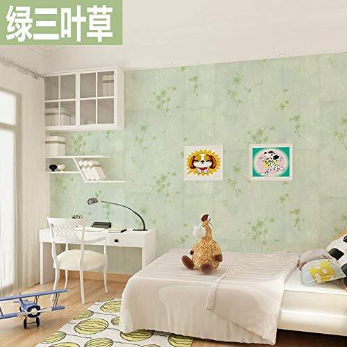 Carta da parati autoadesiva carta da parati camera da letto carta da parati calda impermeabile semplice colore solido sfondo muro verde verde trifoglio
