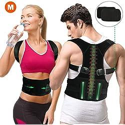 Gifort Geradehalter zur Haltungskorrektur, Schulter Rücken Haltungsbandage verstellbare Größe Rückenbandage für Herren und Damen (Style 2-M)