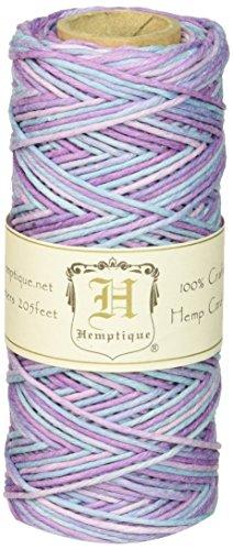 Hemptique Bobine de fil de chanvre Résistance moyenne 9 kg Pastel/multicolore