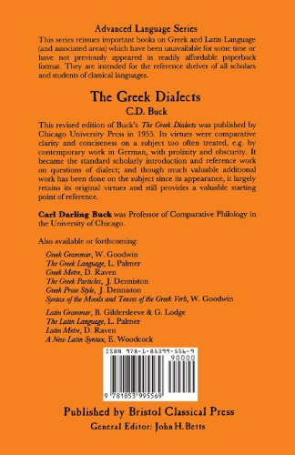 The Greek Dialects (BCP Advanced Language)