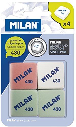 Milan BMM9215 – Pack de 4 gomas de borrar