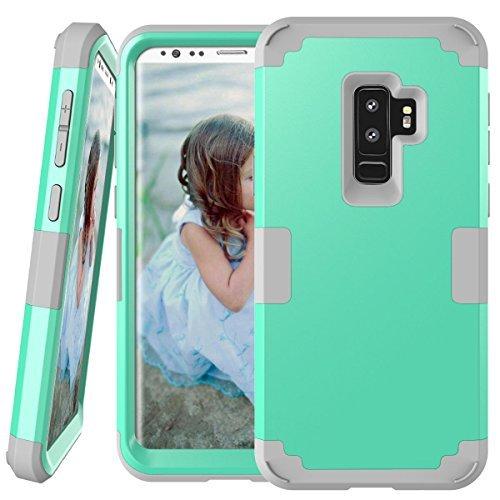 Galaxy S9Plus Fall, Daker 3in 1Hybrid Hard PC Soft Silikon Robust Armor Bumper stoßfest Rutschfeste Schutzhülle für Samsung Galaxy S9Plus (2018), Mint