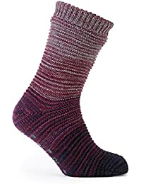 totes Men's Space Dye Marl Knit Slipper Socks