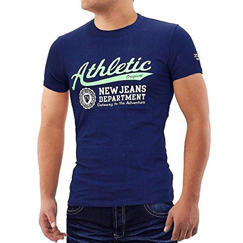 Herren T-Shirt Athletic ID678 Dunkelblau