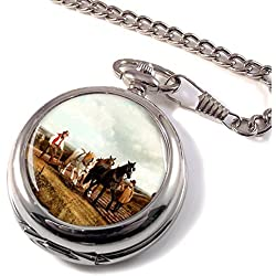 Horse Plough by Herring Full Hunter Pocket Watch