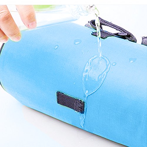 lafedy Lenkertasche Handy Halterung für Karte Wasserdichtes Bike Tasche Fahrrad Cycling vorne Korb Gepäckträgertasche mit abnehmbarer Schultergurt Blau